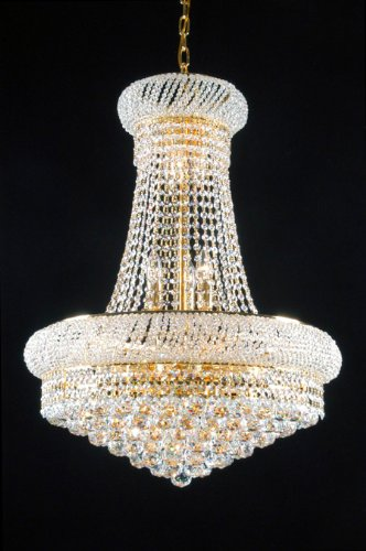 Swarovski crystal trimmed french empire crystal chandeliers swarovski crystal trimmed french empire crystal chandeliers lighting great for the dining room foyer aloadofball Choice Image