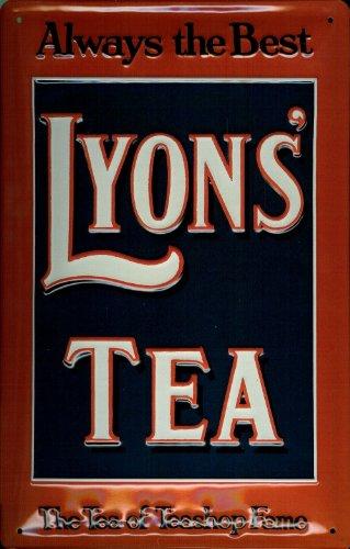 Diseño de Lyons Tea Té con diseño retro publicidad luminosa ...