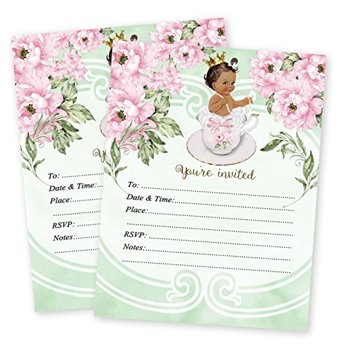 (Tea Baby Shower Invitations Luncheon Brunch Shower Invitation 20 count with envelopes)