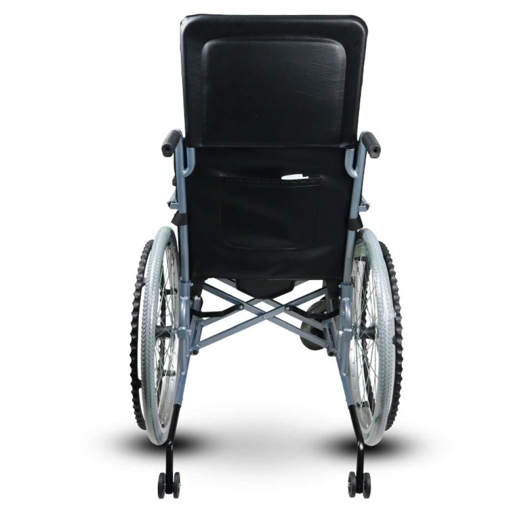 DPPAN Drive Medical Transport Silla de ruedas Mesa de comedor plegable liviana, aleación de aluminio fuerte que eleva los reposapiernas para mayor,black_18