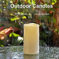 AMAGIC Outdoor Flameless Candles - Set of 6 (H 5&q