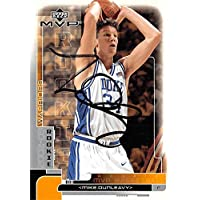 $25 » Mike Dunleavy autographed Basketball Card (Duke Blue Devils) 2002 Upper Deck MVP Rookie #214 - Autographed College Basketballs