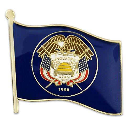 """PinMart Utah US State Flag UT Enamel Lapel Pin 1"""""""