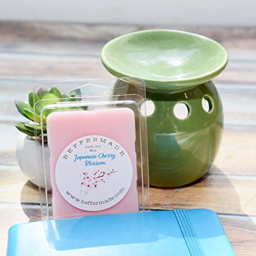 - Japanese Cherry Blossom Scented soy wax melts - pack of 6 cubes
