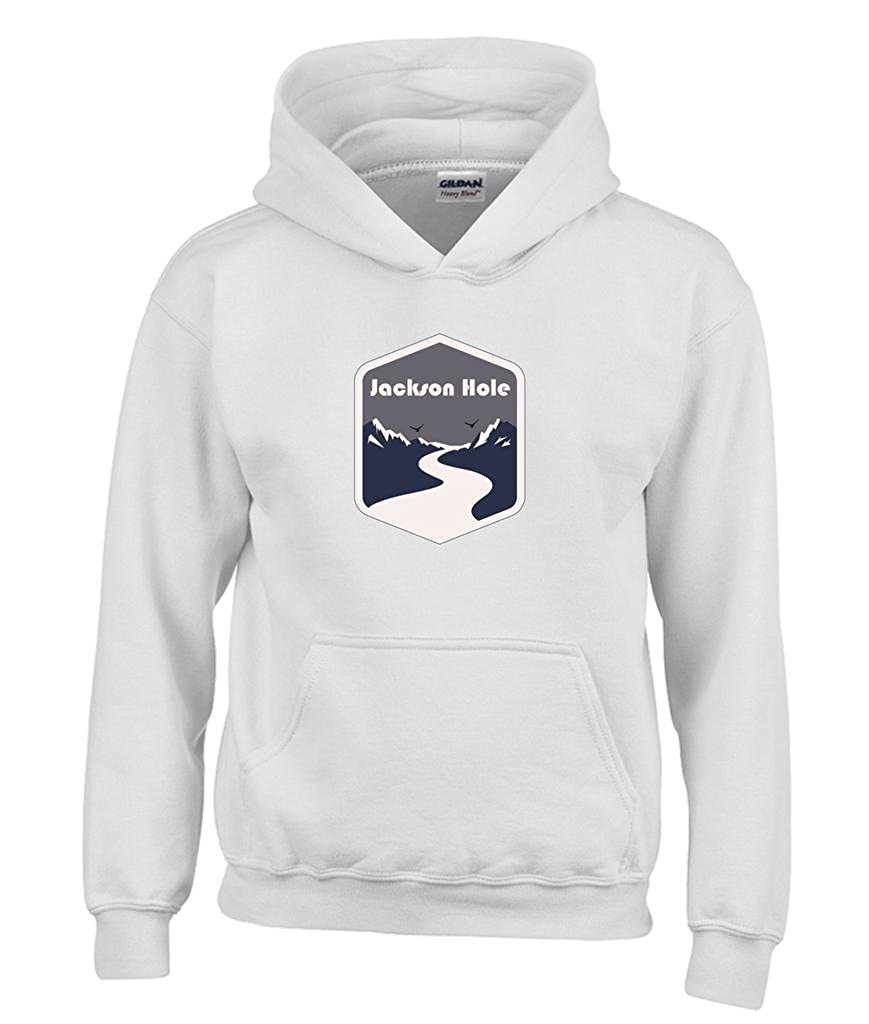 Wyoming Mountain Road Youth Hoodie Jackson Hole Kids Sweatshirt