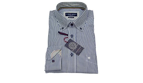 CASA Moda - Camisa de Rayas Azul/Blanco Azul XL: Amazon.es ...