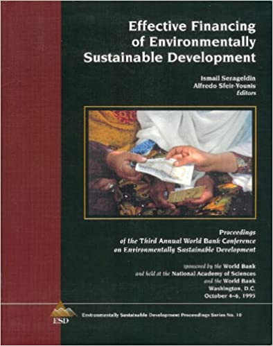 Effective financing of environmentally sustainable development