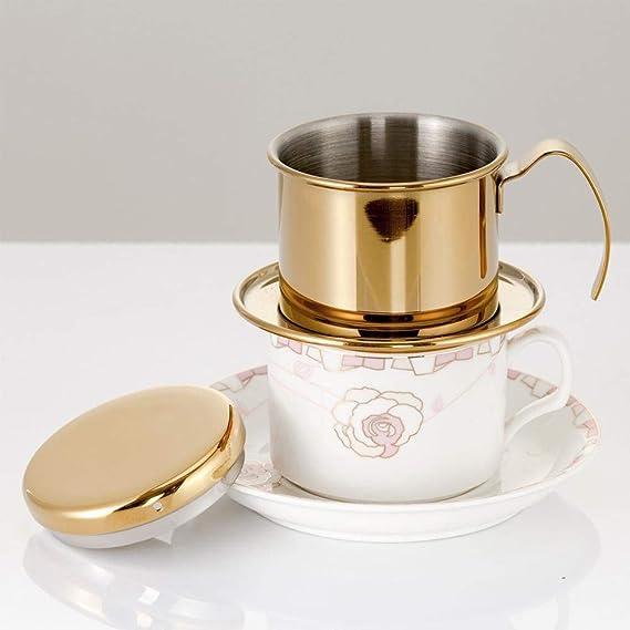 Cafetera olla café vietnamita de acero inoxidable con filtro de goteo de café para el hogar de la cocina de la oficina de uso al aire libre-mejor opción de ...