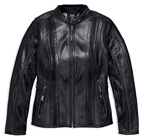 Harley-Davidson Women's Perforated Leather Jacket w/Coolcore 97010-18VW (2XL) - Harley Davidson Leather Bags