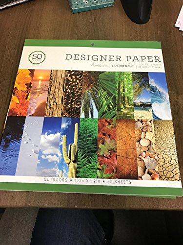 Colorbok Designer Scrapbook and Craft Paper Outdoors 12 x 12 (Designer Scrapbook Paper)