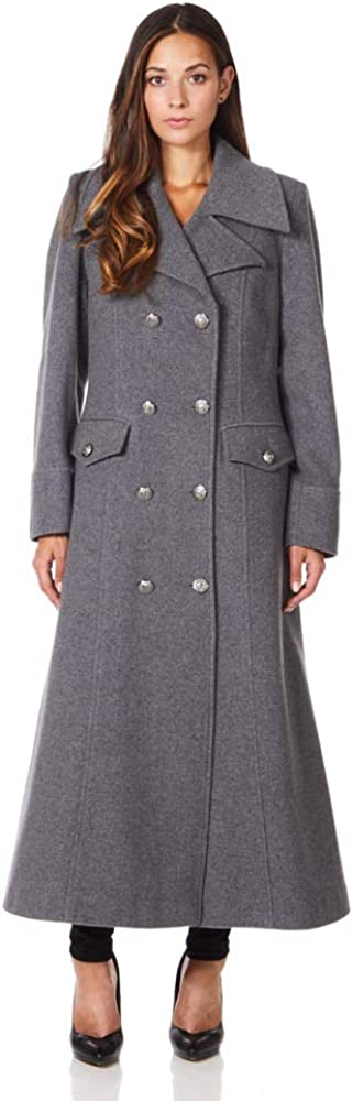 1940s Style Coats and Jackets for Sale De La Creme Womens Long Military Wool Cashmere Winter Coat $149.99 AT vintagedancer.com