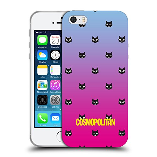 Official Cosmopolitan Sky Blue And Pink Lovey The Cat Soft Gel Case for Apple iPhone 5 / 5s / SE
