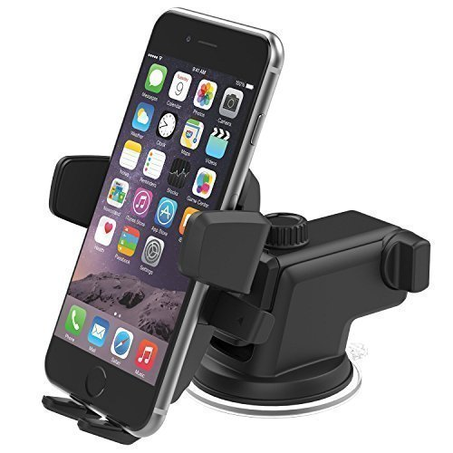 iOttie Easy One Touch 3 Car & Desk Mount Holder for iPhone 6s Plus 6s 5s 5c, Samsung Galaxy S6 Edge Plus S6 S5 S4, Note 5 4 3, Google Nexus 5 4, LG G4