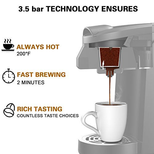 K Cup Coffee Maker, SOWTECH 3.5 Bar Single Serve Coffee...
