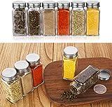 Aozita Glass Spice Jars/Bottles - 4oz Empty