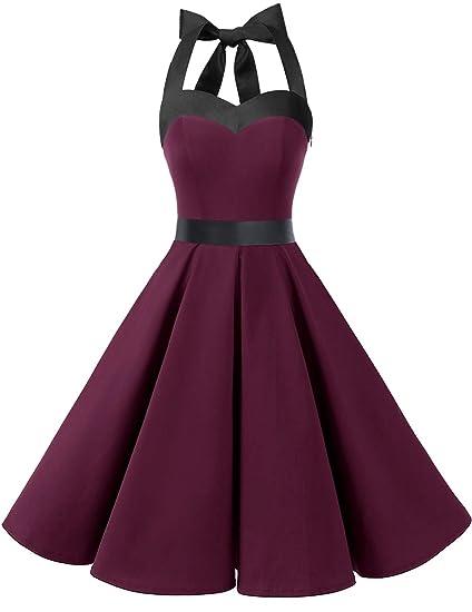 9141e191f96f3 DRESSTELLS 50s Retro Halter Rockabilly Bridesmaid Audrey Dress Cocktail  Dress