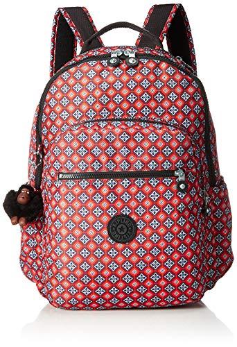 Kipling Seoul GO Large Laptop Backpack,  Mystic MEDALLIAN Orange, One Size