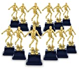Golden Male Soccer Trophy - Plastic Award Recognition for Soccer Players, Coaches - 12 Pc Set