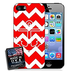 Colorful Red Chevron Anchor iPhone 4/4s Hard Case by lolosakes