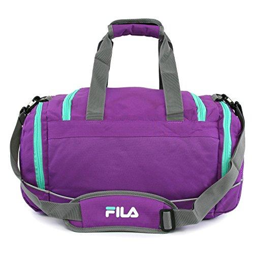 """51XK8m6Q72L - Fila Sprinter 19"""" Sport Duffel Bag, Purple/Teal - FL-SD-2719-PLTL"""