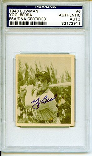Yogi Berra 1948 Bowman New York Yankees Autographed Trading Card - (1948 New York Yankees)