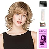 Cat by Ellen Wille, Wig Galaxy Hair Loss Booklet, 2oz Travel Size Wig Shampoo, Wig Cap, & Wide Tooth Comb (Bundle - 5 Items), Color Chosen: Light Honey Mix