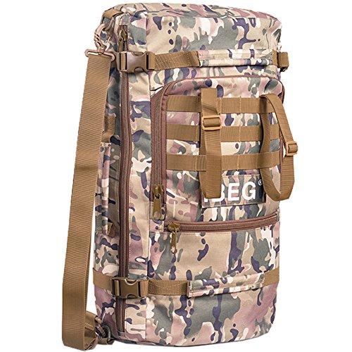 aofit 45L gran capacidad deportes al aire libre mochila multifuncional mochila de viaje mochila Militar ejército combate táctico mochila senderismo mochila, hombre, wolf brown CP camouflage