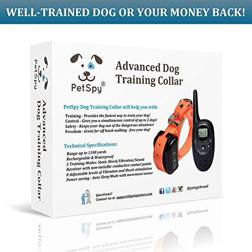 PetSpy-Advanced-Remote-Dog-Training-Shock-Collar-for-Dogs-with-Beep-Vibration-and-Electric-Shocking-Rechargeable-and-Waterproof-E-Collar-Trainer