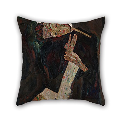 [Beautifulseason Cushion Cases Of Oil Painting Egon Schiele - The Lyricist,for Dance Room,car,bench,valentine,father,monther 20 X 20 Inches / 50 By 50 Cm(both] (Pictures Of Jazz Dance Costumes)