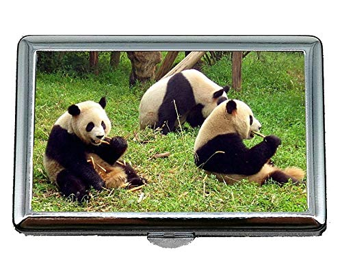 (Cigarette Case/Box,Squishy Giant Panda Business Card Holder Business Card Case (Stainless Steel))