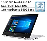 ASUS Q304UA 13.3' Premium Flagship Full HD Touchscreen 2-in-1 Laptop PC, Intel Core i5 up to 3.1GHz, 6GB|8GB|12GB DDR4 RAM, 1TB HDD, Or up to 960GB SSD, Backlit Keyboard, WiFi, Bluetooth, Win 10