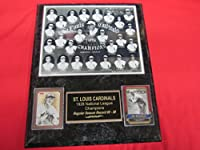 St Louis Cardinals 1928 National League Champions 2 Card Collector Plaque w/8x10 Team Photo
