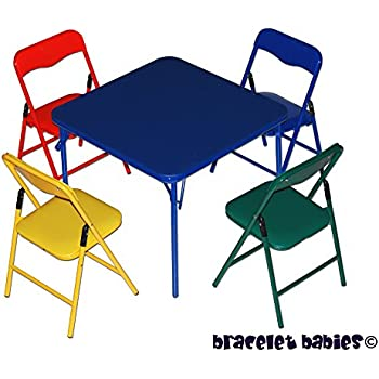 Childrenu0027s Folding Table U0026 Folding Chairs Furniture Set