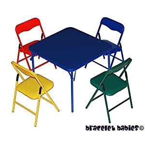 Bracelet Babies© Children's Folding Table & Folding Chairs Furniture Set