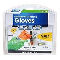 Los guantes desechables de saneamiento de uso múltiple para vehículos recreativos de Camco, se sujetarán en condiciones húmedas o secas, sin látex y en polvo, resistentes a nitrilo verde (100 guantes) (40285)