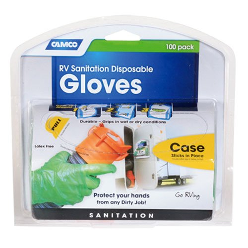 Camco RV Disposable Dump Gloves - 50 Pairs made our list of RVing Tips For Beginners