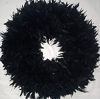 Christmas Wreaths - Beautiful & Fluffy Black Feather Wreaths - In Stock & Ready to Ship ! ...
