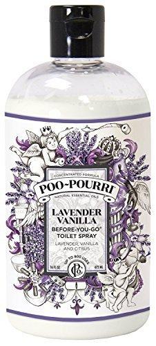Poo-Pourri Lavender Vanilla Scent Refill Bottle 16 OZ (1) (Spray Poopouri)
