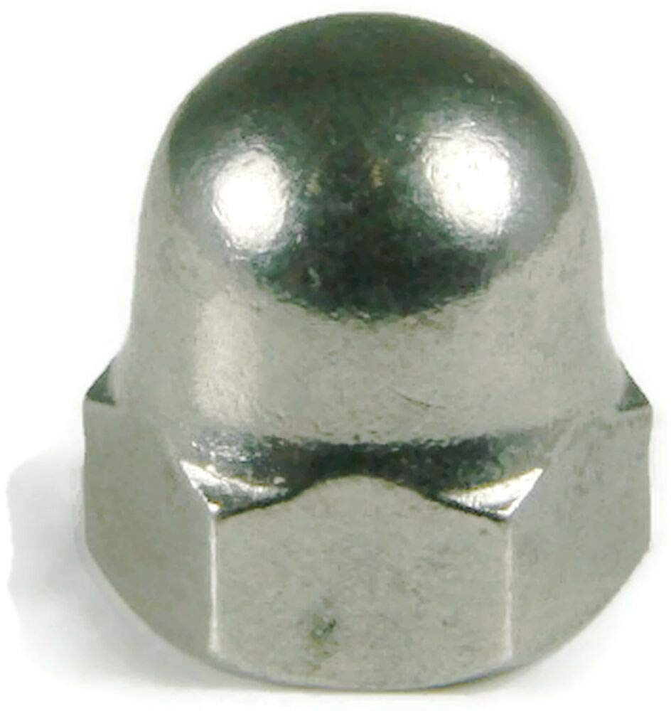 Qty 25 Stainless Steel Cap Acorn Hex Nuts UNC 1/2-13,