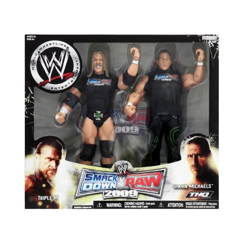 WWE Wrestling Exclusive Smackdown vs. RAW 2009 Superstars 2-Pack (Triple H and Shawn Michaels)