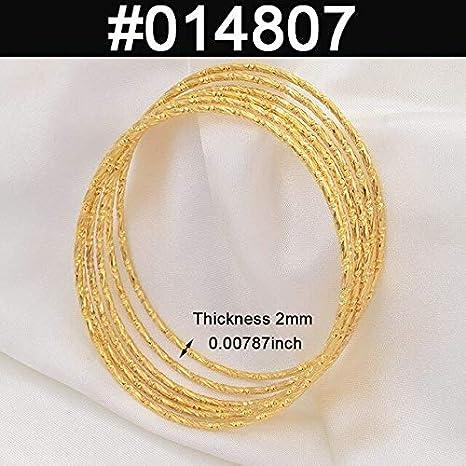 NTNH12 Bracelets for Women 6pcs//lot Bracelets Women Girls Dubai Arab Eastern African Fashion Bangles #014707