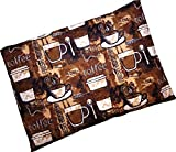 Caylee's Creations Microwavable Corn Filled Heating Pad and Cold Pack/Washable 100% Cotton Cover (7.5'Wx11'L, Coffee Please)