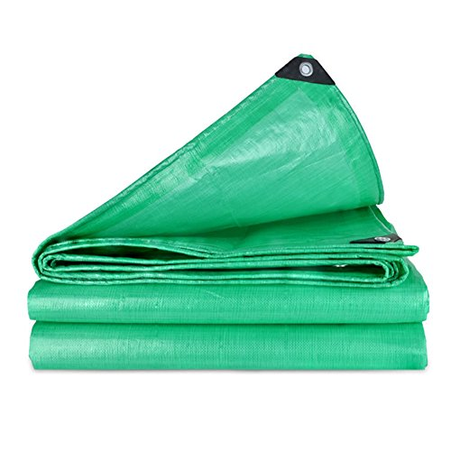 Tarpaulin Tarpaulin Sheet Mouldproof Hardy Canopy Boats Covers Sunscreen Anti-aging Frost Resisting -180g/m², Thickness 0.38mm, Green, 9 Sizes Optional, Size Customized (Size : 3 x 3m) by Hw Ⓡ Tarpaulin (Image #7)