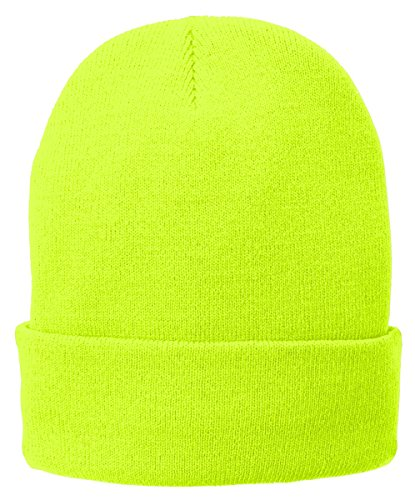 Port & Company CP90L Fleece Lined Knit Cap - Neon Yellow - One Size