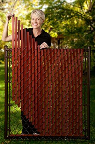 6ft Redwood Ridged Slats For Chain Link Fence