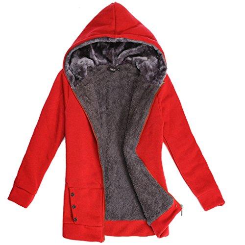 Women Slim Hooded Thicken Cotton Padded Coat Hoodies Black - 4