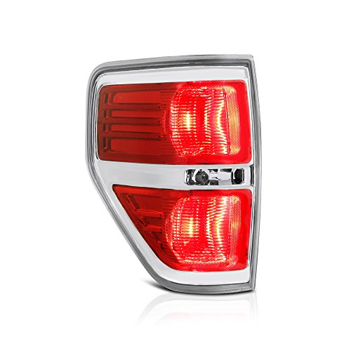 [For 2009-2014 Ford F-150 Pickup Truck] Driver Side Red Lens OE-Style Left Tail Light Lamp Assembly (Truck Side Tail Pickup Style)
