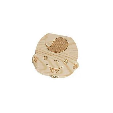 Lorenlli Caja de Almacenamiento de Ahorro de Caja de Dientes de beb/é creativos Dientes de los ni/ños de Madera Organizador Caja Caja de Dientes de Leche Recuerdo para ni/ñas Ni/ños