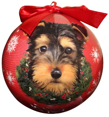 Yorkie Pup Christmas Ornament Shatter Proof Ball Easy To Personalize A Perfect Gift For Yorkie Pup Lovers