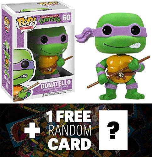 "Donatello: ~3.7"" Funko POP! x TMNT Vinyl Figure + 1 FREE Official classic TMNT Trading Card Bundle"